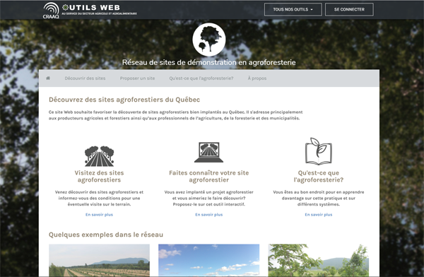 Capture Réseau de sites de démonstration en agroforesterie